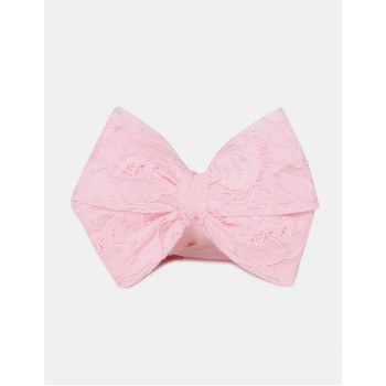 The Children's Place Girls Pink Lace Bow Headband