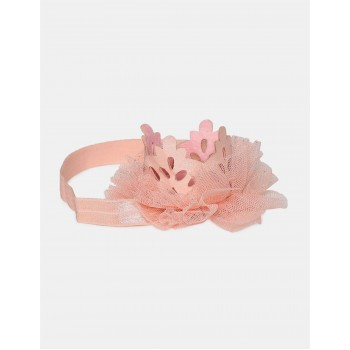 The Children's Place Girls Pink Mesh Crown Headwrap