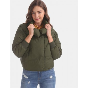 U.S. Polo Assn. Green Dolman Sleeve Quilted Jacket