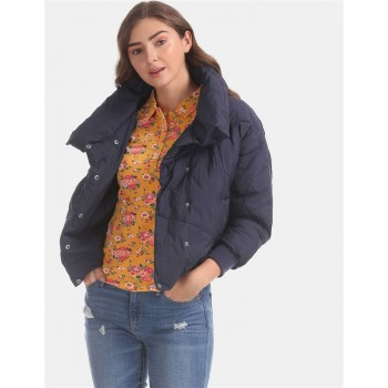 U.S. Polo Assn. Blue Dolman Sleeve Quilted Jacket
