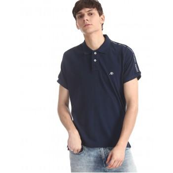 Aeropostale Men Casual Wear Navy Blue T-Shirt