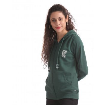 U.S. Polo Assn. Green Hooded Zip Up Sweatshirt