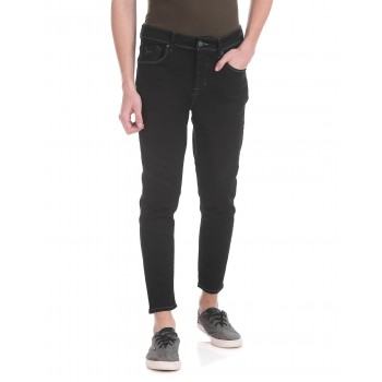 Flying Machine Men Casual Wear Black