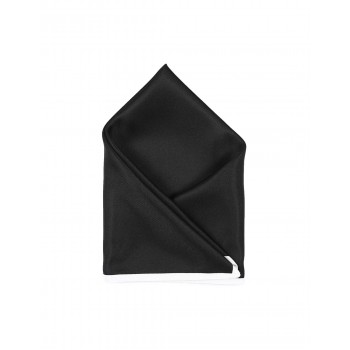 Arrow Men Party Wear Solid Black Pocket Square