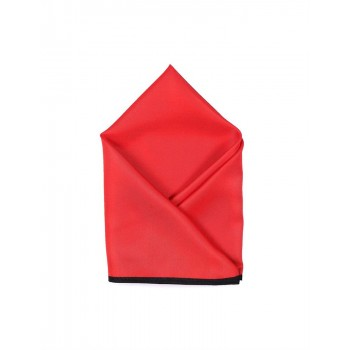 Arrow Men Party Wear Solid Red Pocket Square