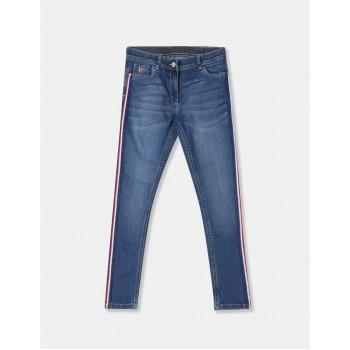 U.S. Polo Assn. Girls Blue Bonnie Slim Fit Washed Jeans