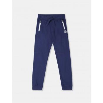 U.S. Polo Assn. Boys Blue Zip Pocket Cotton Joggers