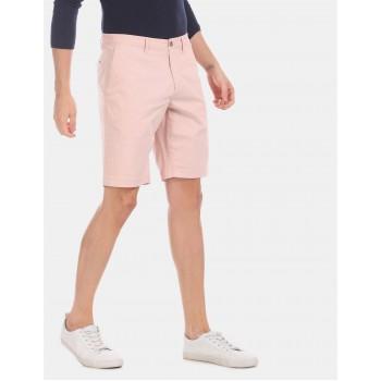 U.S. Polo Assn. Men Casual Wear Pink Chino Shorts