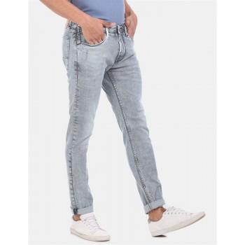 Ed Hardy Men Casual Wear Sky Blue Jeans