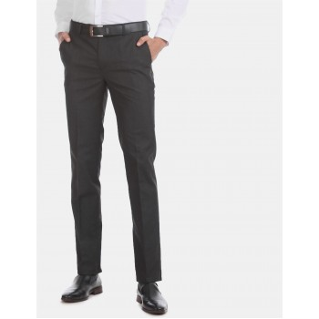 Arrow Men Formal Wear Black Trouser