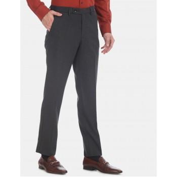 Arrow Men Formal Wear Dark Grey Trouser