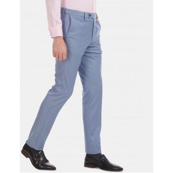 Arrow Men Formal Wear Blue Trouser