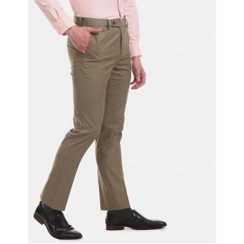 Arrow Men Formal Wear Brown Trouser