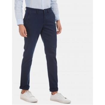 Arrow Sports Men Casual Wear Blue Trouser
