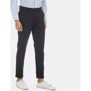 Arrow Sports Men Casual Wear Black Trouser