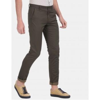 Arrow Sports Men Casual Wear Olive Trouser
