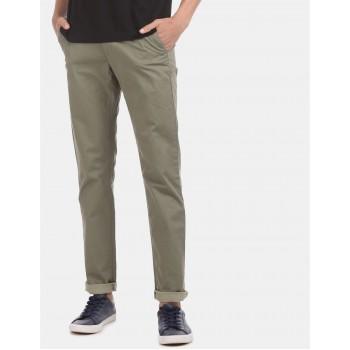 Arrow Sports Men Casual Wear Green Trouser