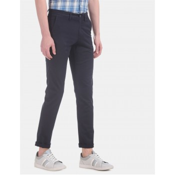 Arrow Sports Men Casual Wear Navy Blue Trouser