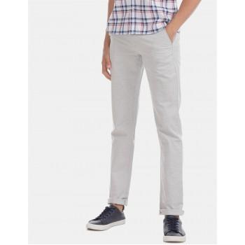 Arrow Sports Men Casual Wear Grey Trouser