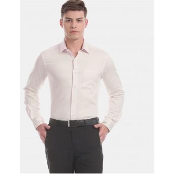 Arrow Men Formal Wear Pink Shirt