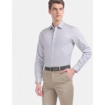Arrow Men Formal Wear Grey Shirt