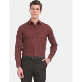 Arrow Men Formal Wear Brown Shirt