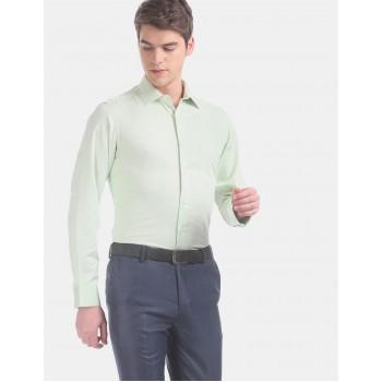 Arrow Men Formal Wear Green Shirt