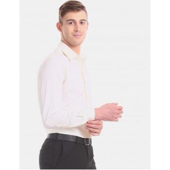 Arrow Men Formal Wear Off-White Shirt