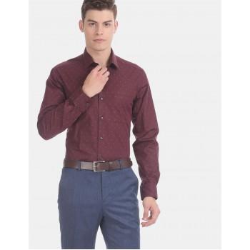 Arrow Men Formal Wear Maroon Shirt