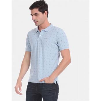 Arrow Sports Men Casual Wear Sky Blue T-Shirt