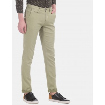 Arrow Sports Men Casual Wear Light Green Trouser