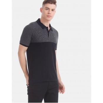 Arrow Sports Men Casual Wear Black T-Shirt