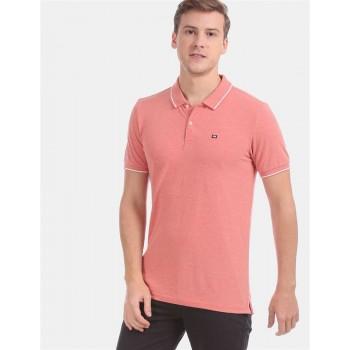 Arrow Sports Men Casual Wear Peach T-Shirt