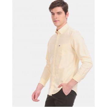 Arrow Sports Men Casual Wear Yellow Shirt