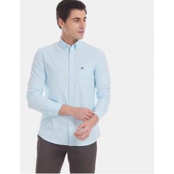 Arrow Sports Men Casual Wear Blue Shirt