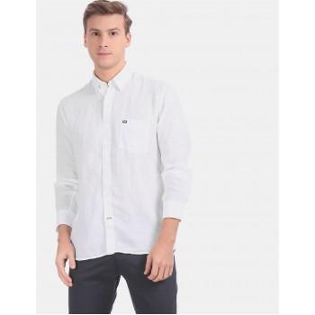 Arrow Sports Men Casual Wear White Shirt