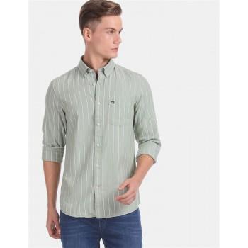 Arrow Sports Men Casual Wear Light Green Shirt