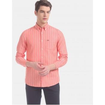 Arrow Sports Men Casual Wear Orange Shirt