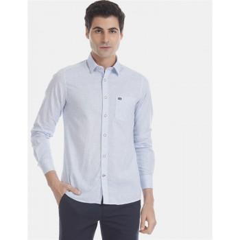 Arrow Sports Men Casual Wear Sky Blue Shirt