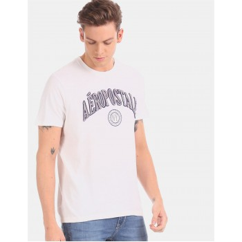 Aeropostale Men Casual Wear White T-Shirt