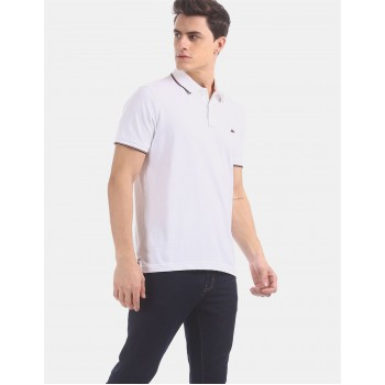 Aeropostale Men Casual Wear White T-Shirt
