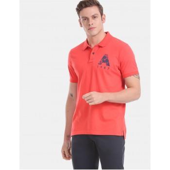 Aeropostale Men Casual Wear Red T-Shirt