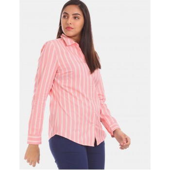 Tommy Hilfiger Women Pink Solid Casual Shirt