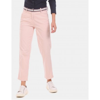 Tommy Hilfiger Women Casual Wear Pink Trousers