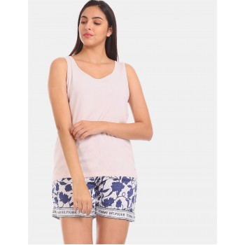 Tommy Hilfiger Women Pink Solid Casual Top