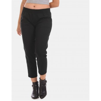 Tommy Hilfiger Women Casual Wear Black Track Pant