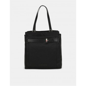 Tommy Hilfiger Women Black Tote bag With 2 Compartment