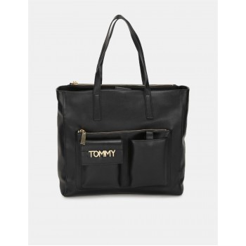 Tommy Hilfiger Women Black Tote bag With 5 Compartment