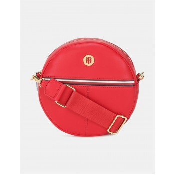 Tommy Hilfiger Women Red Sling Bag With 2 Compartment