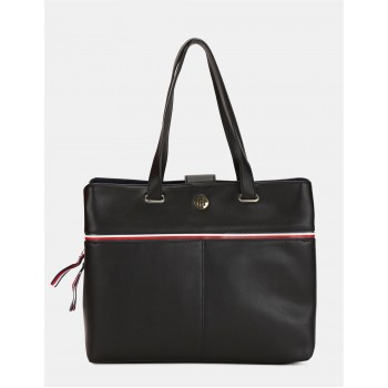 Tommy Hilfiger Women Black Tote bag With 4 Compartment
